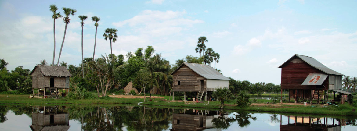 Off the beaten path in the Cambodian countryside
